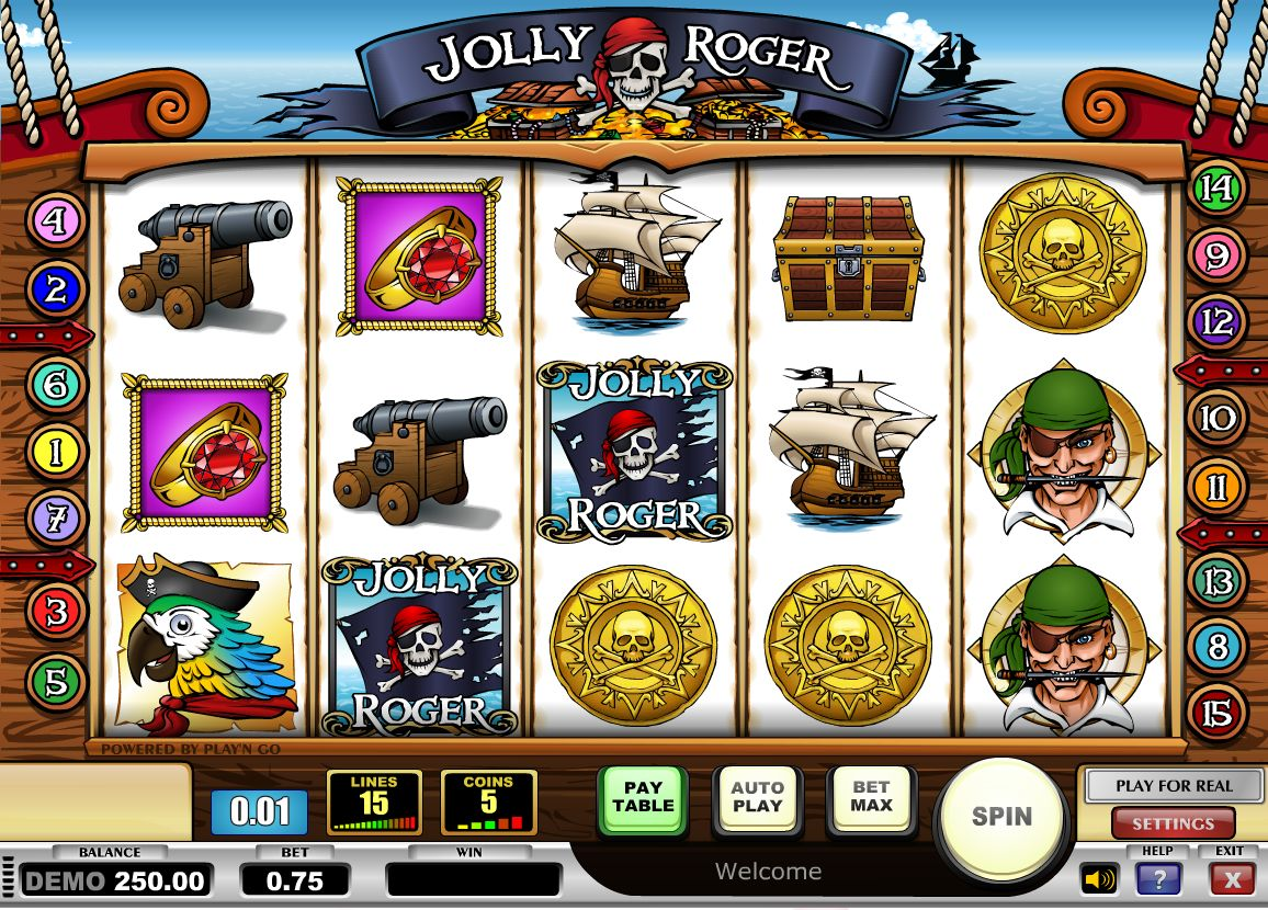 Jolly Roger Slot Machine - Play this Tain Casino Game Online